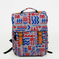 Two burkle huda women backpack, unique pattern fabric backpack,  korea made
