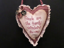 shabby chic country vintage decor verse heart wall hanger sign cushion pillow