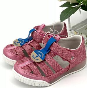 Stride Rite Val Light-Up Fisherman Sandals Toddler Girls Sz 9 Shoes Pink Sparkle