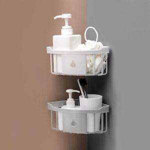 Shower Caddy Corner Storage Shelf Holder Rack Organiser Bathroom Adhesive