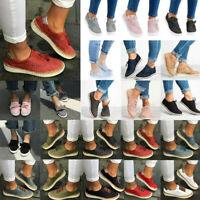 Damen Flache Halbschuhe Sneaker Laufschuhe Slipper Atmungsaktive Sommerschuhe 43