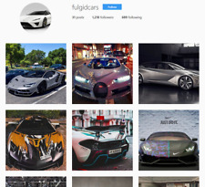 Instagram Account real 1K+ | Cars