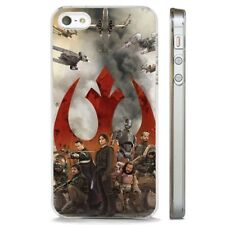 Rebel Alliance Rogue One Star Wars CLEAR PHONE CASE COVER fits iPHONE 5 6 7 8 X