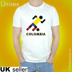 Colombia Retro Football T-shirt Colombian Stick Man 2018 World Soccer T Shirt