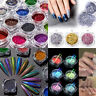 Nail Art Powder Flakes Holographic Laser Glitter Pigment Dust Tips Manicure DIY