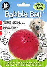 Pet Qwerks Large Animal Sounds Babble Ball Toy for Dogs