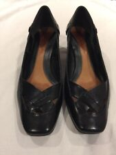 Clarks Women's Black Leather Shoes Uk 7