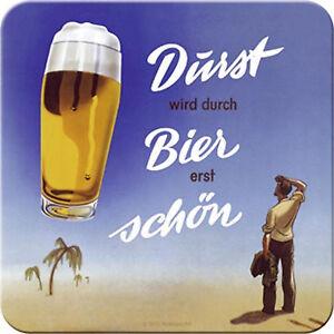 Nostalgic Art dessous de Verre Métalliques Durst (Soif) Est en Cas Bière, 9 x 9
