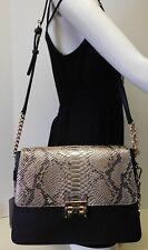 Calvin Klein Signature Snake Python Gold & Black Shoulder Bag Handbag Tote