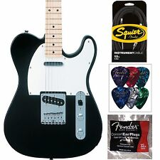 Squier Affinity Series Telecaster Black Tele - 15' Cable, Picks, And Ear Plugs!