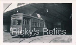 B&W Photo New Orleans Public Service Co #801 New Orleans LA 1940s Garage DESIRE