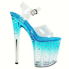 Sandali lap dance pole dance trasparenti scarpe spettacolo ROMINA bibi fashion