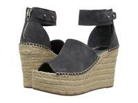 Women's Shoes Dolce Vita Straw Platform Wedge Espadrille Sandals Anthracite NEW