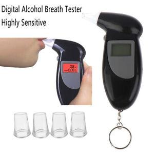 LCD Screen Digital Alcohol Breath Tester Analyzer Detector Breathalyser Displ LD