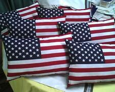 "Patriotic American Flag Pillow Red, Wht, Blue 11"" x 17""~~ USA 4th of July!!!"
