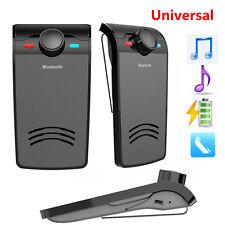 1X Visiera Parasole Wireless Auto Clip Musica Stereo Bluetooth Vivavoce per Telefono Cellulare