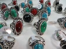[US SELLER] 10pc vintage inspired jewelry wholesale Turquoise Ring Jewelry Bulk