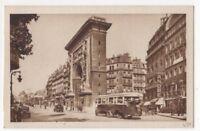 Paris Porte Saint Denis Boulevard Bonne Nouvelle France Vintage Postcard US085