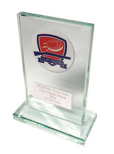Glass Clay Pigeon Trophy award. Free Engraving