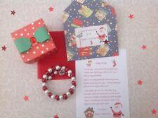 Personnalisé Père Noël Lettre, Bracelet, Boîte Cadeau, veille de Noël, Santa
