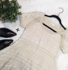 Anthropologie Sleeping On Snow Cream Loop Knit Sweater Sz XS