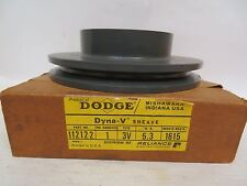 NEW DODGE DYNA-V 1 GROOVE SHEAVE PULLEY 112122 3V 5.3 OD TAKES 1615 BUSHING