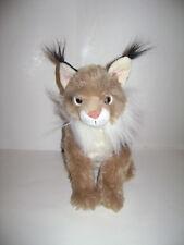 "Wildlife Artists Lynx Wild Cat BROWN Plush Stuffed Animal Soft Toy 13"" VERY RARE"