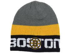 3e3efbb77 Boston Bruins Reebok NHL 2016 Center Ice Winter Knit Skull Beanie Hat