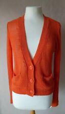 SWEEWE PARIS - size S - lovely Orange long Sleeves KNIT CARDIGAN - BNWT