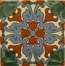 Flor del Dragon (Flower of the Dragon) Talavera Tile