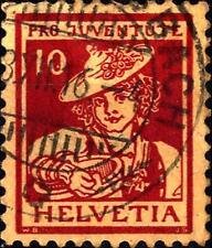 SWITZERLAND - SVIZZERA - 1916 - Pro Juventute. Costumi cantonali
