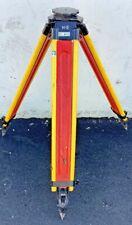 Vintage Keuffel Amp Esser Wooden Transit Tripod 3 12 X 8 Thread Surveying