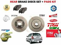 FOR RENAULT CLIO 1.2 1.4 1.5 DCI 1.6 1998-2005 REAR BRAKE DISC SET + PADS SET