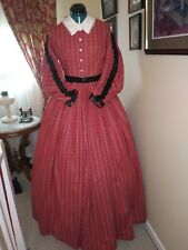 Civil War Reenactment Day Dress Size 16 Double Pleated Sleeves
