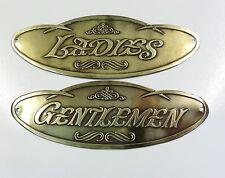 Antique,Toilet Door Signs, Brass, Ladies & Gentlemen