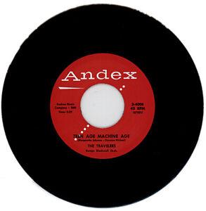 "THE TRAVELERS ""TEEN AGE MACHINE AGE c/w GREEN TOWN GIRL"" 1957 DOO WOP"