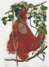 "Orangutan, Baby, Gorilla, Monkey, Primate, Embroidered Patch 7.6""x 10.7"""