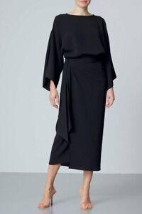 Meme Label Amari Black Wrap Skirt & Amari Black Top - UK XL
