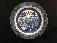 Churchill Blue Willow One (1) Dinner Plate Staffordshire England Many Available