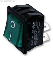Rocker Switch DPST Illum Green Part # Arcolectric Switches C1353at0/1grn