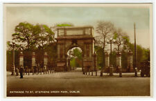 Tinted Photo Postcard St Stephens Green Dublin Ireland