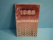 88 1988 Honda Accord owners manual