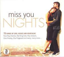 MISS YOU NIGHTS - 3 CD BOX SET - RAY CHARLES, NAT KING COLE & MANY MORE