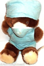 Russ Berrie SCRUBBY Dr. Teddy Bear in Scrubs with Mask HTF Vintage 1983