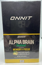 ONNIT Alpha Brain Instant Memory And Focus - 30 Packets - Peach Flavor