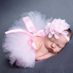 Newborn Baby Girls Boys Costume Photo Photography Prop Outfits Skirt+Headband T·