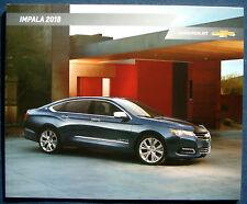 Prospekt brochure 2018 Chevrolet Chevy Impala (USA)