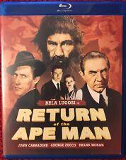RETURN OF THE APE MAN 1944 OLIVE FILMS Blu-ray BELA LUGOSI JOHN CARRADINE