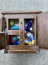 Vintage Dollhouse Miniature Ice Chest 1960's 1970's With Food, Ice Cream, Cake