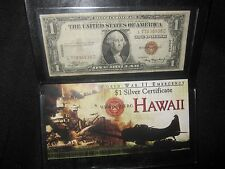 "WWII Emergency Silver Certificate Bank Note - ""Hawaii"" Overstamp with Brown Seal"
